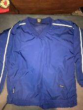 New Easton Baseball Pullover Shirt Jacket Nwot Blue Softball Mens Large B Neck