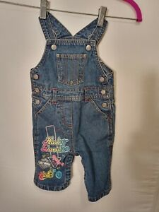 Harley Davidson Overalls Blue Jean Denim Girls Size 12 months