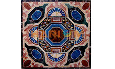 3'x3' Marble Square Side Dining Table Top Lapis & Other Precious Inlay Art B559