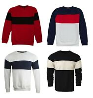 Mens Sweatshirt Pullover Casual Soft Material Jumper Top Long Sleeve SS01