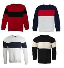 Mens Sweatshirt Pullover Casual Soft Material Jumper Top Long Sleeve SS01