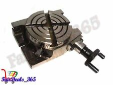 4 INCH ROTARY TABLE HORIZONTAL & VERTICAL USE FOR DIY MACHINISTS