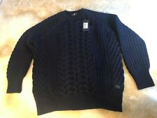 7 for all Mankind,chunky crew neck knit merino ink sweater jumper,   RRP £400