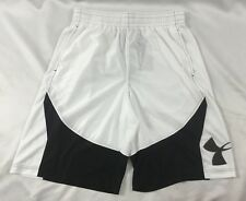 Under Armour MEN'S Athletic Shorts Loose Heat Gear White 1254397 Size L
