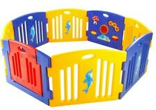 Adventure Play Pen Nursery Playpens Baby Toddler Play 8 Panel Activity Centre