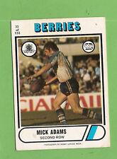 1976 SCANLENS  RUGBY LEAGUE CARD  #32 MICK ADAMS, CANTERBURY BULLDOGS