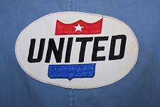 VINTAGE 1960's UNITED AIRLINES SHOP COAT JACKET INDUSTRIAL UNIFORM BACK LOGO 40