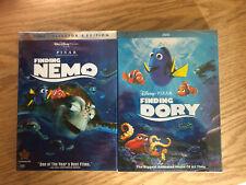 Finding Nemo and Dory Disney Pixar 2-Movie Bundle Dvd!