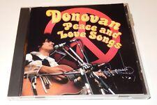 Peace and Love Songs Donovan (CD, 1996)  Sony