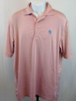 Peter Millar Mens Summer Comfort Large Multicolor Stripe Short Sleeve Polo Shirt