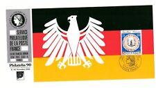 SERVICE PHILATELIQUE DE LA POSTE FRANCE 1990 OBVERSE MAXICARD PHILATELIA BERLIN