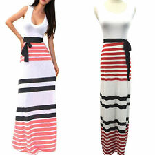 Unbranded 3/4 Sleeve Striped Maxi Dresses for Women