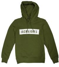 Felpe e tute da uomo verdi marca JACK & JONES cotone