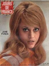 JOURS DE FRANCE N°607 jane fonda romy schneider kiki caron sonia petrovna 1966