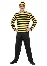Where's Wally Odlaw Costume Fancy Dress - 2 Sizes Wheres Wally Mens Adult
