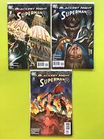 Blackest Night: Superman Mini Series #1 2 3  DC NM 9.4