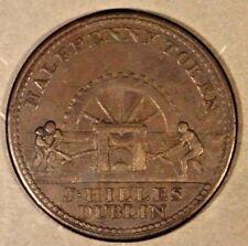 1813 Ireland 1/2 Penny James Hilles Dublin Nice       ** Free U.S. Shipping **