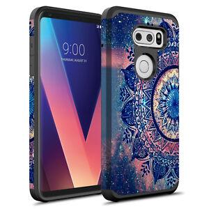 For LG V30 / LG V30 Plus Hybrid Graphic Fashion Silicone Case