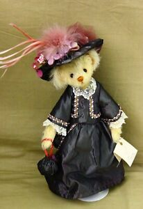 "Mohair OOAK Teddy Bear 13"" Fashion Lady Bear by Christy Firmage"