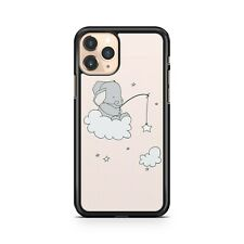 Baby Elephant Animal On Cloud Fishing For Milky Way Stars Cool Phone Case Cover