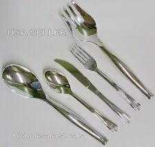 102 Plastic Silver Fork Spoon Knives Serving Tools Cutlery Look Of Silverware