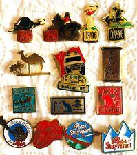 Lot de 14 Pins CIGARETTES Camel Peter Stuyvesant B&H,