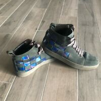 Men's Lanvin Woven Leather High Top Sneakers 11