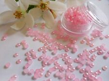 3mm Pink Pearls Pot Round App 250 Flat Back Wedding Nail Art Craft Decoration