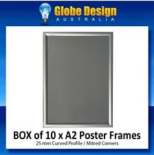 BOX of 10 x A2 Silver SNAP LOCK Poster Frame CLIP LOCK Poster Frame