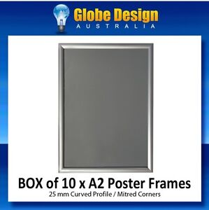 BOX 10 x A2 Silver SNAP LOCK Poster Frame CLIP LOCK Only $9.90 Per Frame