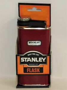 Stanley Red Classic Flask 8oz Stainless Steel Wide Mouth NEW
