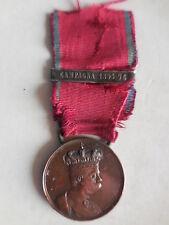 medaglia Umberto I campagna d'Africa con barretta campagna 1895 96