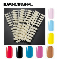 120 Natural Color Flat Tips Acrylic UV Gel Nail Art Polish Display Practice Tool