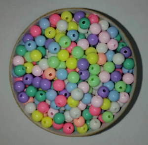 50pcs 6mm acrylic beads, plastic beads, confectionery, straight hole accessories
