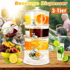 MEIGAR 3 Tier Commercial Cold Drink Juice Dispenser Iced Beverage Holder  AU