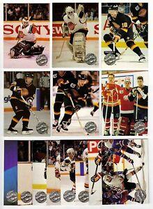 1991-92 Pro Set Platinum Vancouver Canucks Team SET 14 Pavel Bure RC Rick Hansen