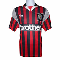 1994-1996 Manchester City Away Football Shirt Umbro Large (Excellent Condition)