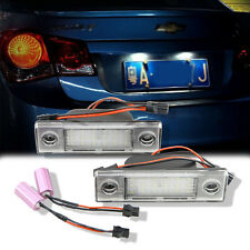 2PC Car Rear License Plate Lamp Trunk Switch Button Assembly For Chevrolet Cruze
