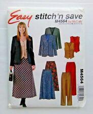 McCalls Sewing Pattern Skirts Trousers Tops 12-18 4564 Stitch Save B&W Env UNCUT