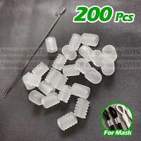 200PCS Translucent Adjustment Buckle Ear Elastic Cord Adjustable Stops For Mask