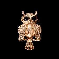 Wedding Bridal Bouquet Gold Owl Rhinestone Crystal Brooch Pin Jewelry Gift