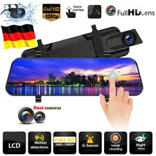 "XGODY 10"" Touch Auto DVR 1080P Dashcam Videorecorder Rückspiegel Kamera G-Sensor"