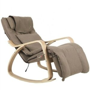 Modern Electric Massage Chair Wood Recliner With Removable Cushion Cover New