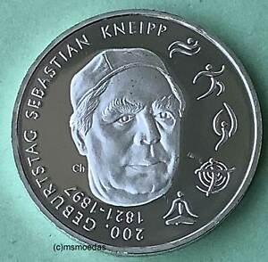Deutschland BRD 20 Euro 2021 Sebastian Kneipp Silber Euromünze coin