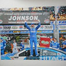 Jimmie Johnson signed #48 LOWES Chevy TEXAS VICTORY LANE Nascar 8x10 Photo