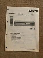 Sanyo VHR-7270E Vintage Video Recorder Original Service Manual