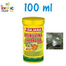 DAJANA SPIRULINA CHLORELLA 100ml MANGIME IN FIOCCHI PER PESCI DOLCE MARINO CIBO