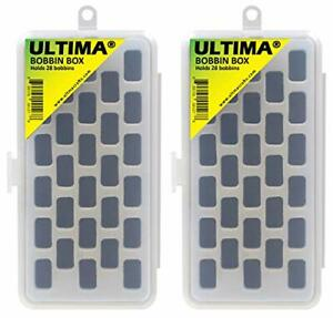 Bobbin Holder Case Plastic Storage Boxes Threaded Sewing Notions Box2 Pack New