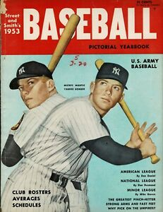 Street and Smith's 1953 Baseball Pictorial Yearbook - Mickey Mantle cover