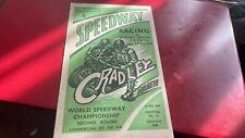 More details for cradley heath--world champs qr---speedway programme--10th june 1949